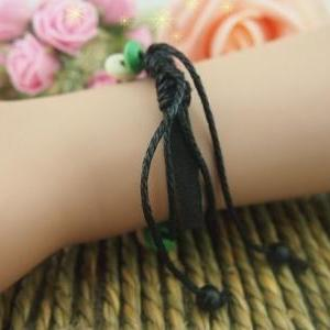 Cuff leather ropes bracelets,person..