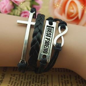 Braid Leather Bracelet,Best friend ..