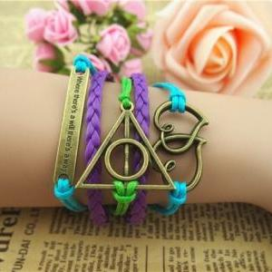 Love bracelet, Harry Potter,heart t..