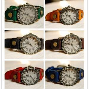 6 Colors wrist watch,leather wrist ..